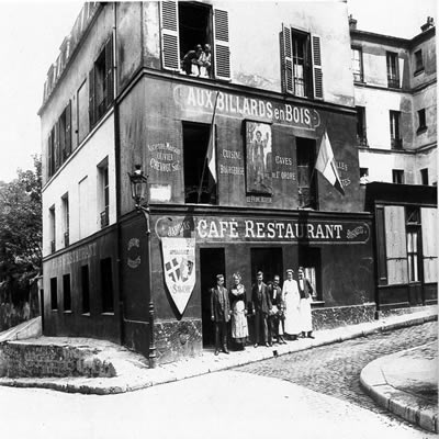 Montmartre- A La Bonne Franquette was called Aux Billards en Bois in the past century