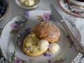 Fresh lavender & lemon scones