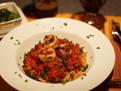 Scallops w Tarragon Tomato Sauce & Linguini 16 TN