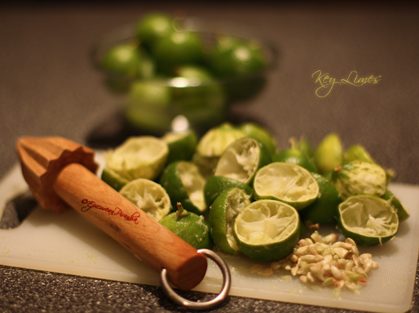 Key Limes - extracting juice 03 608